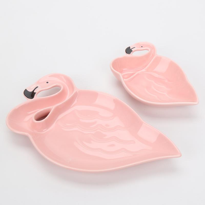 3D-Flamingo-Plate-Pink-Bird-Creative-Ceramic-Dishes-Snacks-Dried-Fruit-Plate-Dessert-Plate-DIY-Birthday