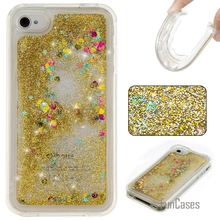 Coque Bling Love Heart Stars Soft TPU Phone Case Cover For iPhone 4S Funda Quicksand Cell Phone Case For iPhone 4 Capinhas Etui(China)