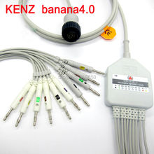 Compatible KENZ 103,106 10 lead ecg cable banana4.0 on terminal