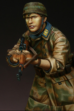 Free Shipping 1/16 Scale Unpainted Resin Figure World War II German paratrooper collection figure
