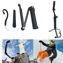 Go Pro Accessories 3 Way Monopod Mount Camera Grip Extension Arm Tripod Mount For Gopro hero5 4 2 3 3+ SJ4000