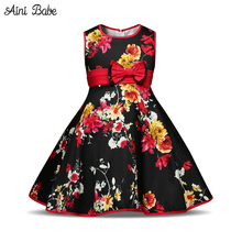 Aini Babe wedding flower girls dress summer 2017 toddler princess clothes for children's kids prom birthday party girl dresses