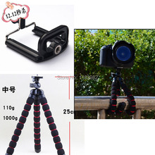 free shipping + tracking number Medium Size Gorillapod 1PCS camera Tripod + 1PCS cellphone holder GoPro  For nikon  For Samsung