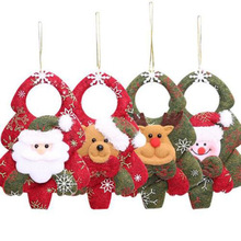 New Year Christmas Decorations Snowman Bear Santa Claus Ornaments Pendant For Christmas Tree Home Decor Gifts