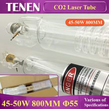 CO2 Glass Laser Tube 45W -  50W 800 mm Dia.55 For Laser Carved Chapter Engraving Marker Cutting Machine Parts Double Package