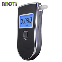 Patent LCD Professional Police Digital Breath Alcohol Tester Car Gadget Portable Breathalyzer AT818 with 5 Mouthpieces Dropship(China)