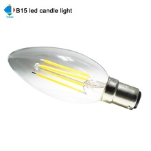 6x dimmer bombilla led candle light B15 E27 2 4 6 watt dimmable filament bulb lamps Ac 110v 220v energy saving lamp lighting(China)