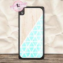 Pastel Mint With Wood Case For Sony Xperia Z5 Z4 compact Z3 Z2 Z1 Z M4 M2 E4 SP T3 T2 C3 C(China)