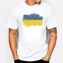 Buy Ukraine National Flag Summer T shirts Men Casual 100% Cotton Nostalgic Ukraine Patriotism Flag Rio Games Cheer T-shirts for $7.53 in AliExpress store