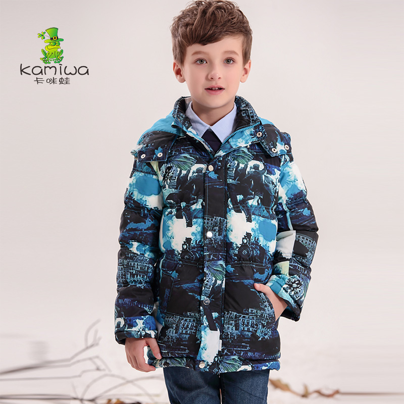 KAMIWA 2017 Baby Boys Winter Coats Jackets Geometric Printing White Duck Down Parkas Hooded Children Clothes Kids ClothingОдежда и ак�е��уары<br><br><br>Aliexpress