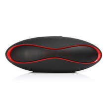 EXRIZU Mini X6 Portable Wireless Bluetooth Speakers Hifi Boombox Audio Music Player Subwoofer Rugby Ball Speaker for Phone Car