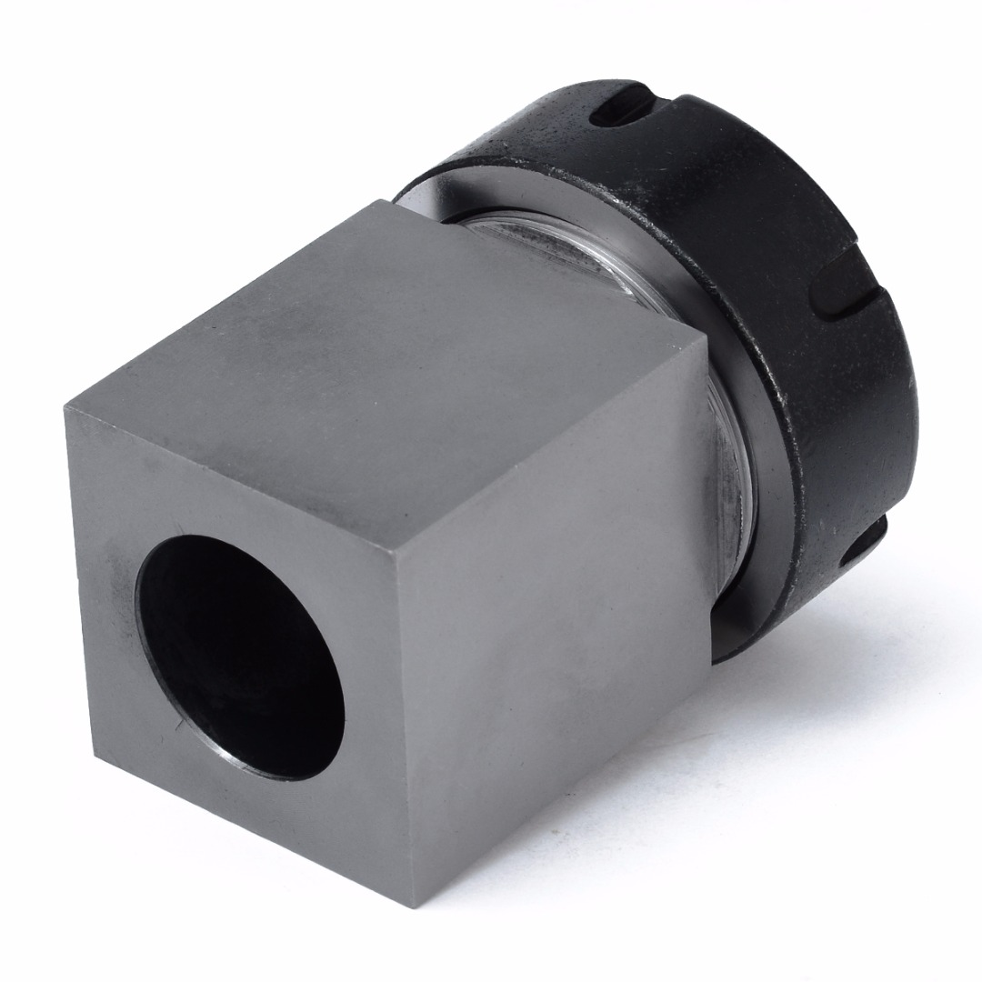 1pc Square ER40 Collet Chuck Block Holder 3900-5125 For CNC Lathe Engraving Machine Cross Hole Drilling