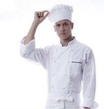 long sleeve chef uniforms autumn chef clothes white cook uniforms cook clothing white chef clothes(China)