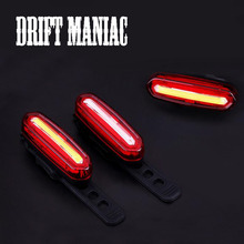 Drift Maniac Rear Bike light Safety Warning USB Rechargeable Taillight Bicycle Tail Lamp Comet LED Cycling Bicycle Light(China)