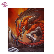 ANGEL'S HAND full drill diamond painting pattern cross stitch dragon  embroidery paintings 5d full diamond  picture