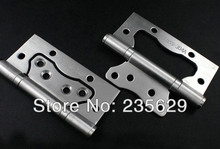 Free Shipping,4inch sub-mother Hinges, 304 brushed stainless steel Hinges for Interior Doors, brushed stainless steel  Hinges