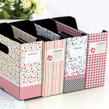 Japanese and Korean Fashion Small Floral Garden Style Storage Box Finishing  Desktop Box Organizers Free Shipping