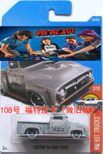 Hot Wheels CUSTOM 56 FORD TRUCK Metal Diecast Car Collection Kids Toys Vehicle For Children Juguetes