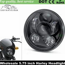 "2016 New Motos Accessories 5.75"" headlight motorcycle 5 3/4"" led headlight for Harley 5-3/4"" Motorcycle Black Projector Daymaker"