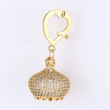 Supplies For Jewellery Accessories 33*16mm Paved CZ Beads Crown Shape Metal Bead Caps Fit Tassel Pendant Making Jewelry Findings