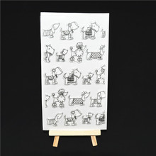 Many lovely dogs Transparent Clear Silicone Stamp/Seal for DIY scrapbooking/photo album Decorative clear stamp  A142