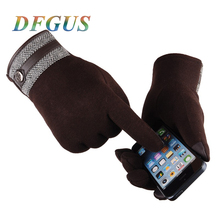 Autumn Winter Gloves Men Thicken Warm Cashmere Thermal Mittens Male Touching Screen Gloves Smart Phone Winter Gloves