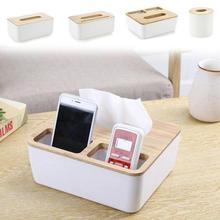 wooden creative box napkin box pumping tissue desktop paper storage boxes European style wooden box Home Furniture W4(China)