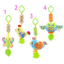 Buy Infant Wind Chimes Plush Toys Hanging Newborn Crib Car Lathe Butterfly/Bird/Chicks/Owl Animal Baby Bed Rattles Bell Toy for $1.16 in AliExpress store