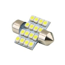 Car DIY LED 31mm 16 SMD Pure White Dome Festoon LED Car Light Bulb Auto Lamp Interior Lights Styling Car Light Source Parking