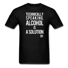 George Takei Alcohol is a Solution Men's T-Shirt 2017 New Summer Men Hot Sale Fashion New Fashion Cool Casual T Shirts