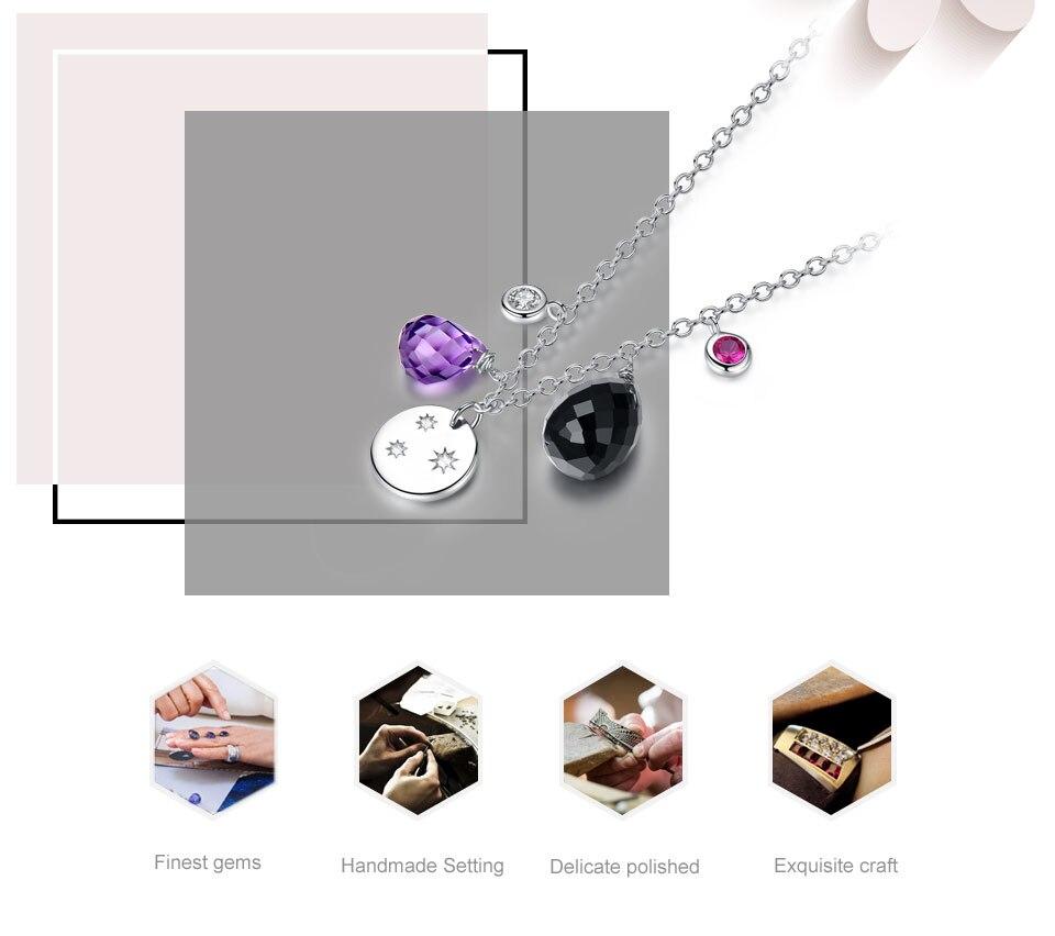 silver amethyst flower necklace for women (2)