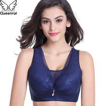 Buy Queenral Full Cup Bras Women Underwear Lingerie Sexy Lace Push Brassiere BH Plus Size BCD Female Intimates Underwire Bra