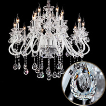 18 lights High quality white & Transparent crystal chandelier Lustres de cristal lampada crystal light contemporary chandeliers