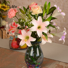 Beautiful Vivid Calla Lily Artificial Flower Home Decoration Real Touch Bouquet Decorative Flowers Mother's Day Gift