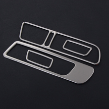 4pcs/set stainless steel inside door Window Switch cover trims modified special For Volkswagen vw Tiguan 2013-2015