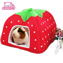 Cute Small Animal Rabbit Guinea Pig Hamster house winter warm squirrel hedgehog chinchilla House cage Nest Hamster accessories(China)