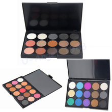 1pcs 4 Different Style Eyeshadow Palette New fashion 15 Earth Color Matte Pigment Cosmetic Makeup Eye Shadow for women Ladies