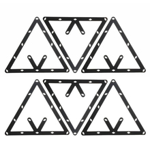 New Arrivals 6Pcs/Set Billiard Magic Rack Black Triangle Ball Holder Positioning Billiard Table Pool Cue Accessory High Quality