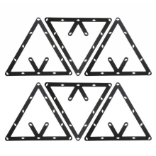 New Arrivals 6Pcs/Set Billiard Magic Rack Black Triangle Ball Holder Positioning Billiard Table Pool Cue Accessory High Quality(China)