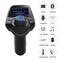 EinCar FM Transmitter, Bluetooth Radio Adapter Car Kit With 5V 2.1A USB Car Charger MP3 Player Support TF Card USB Flash Drive(China)