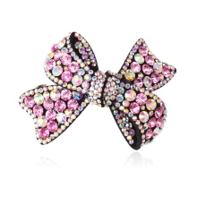 M MISM Women Colorful Shinning Crystal Rhinestone Bow Hairpin Hairgrip Vintage Hair Accessoiry Bowknot Wedding jewelry Hair clip(China)