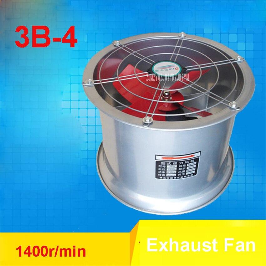 3B-4 Mini Wall Window Exhaust Fan Bathroom Kitchen Toilets Ventilation Fans 1400r/min Windows Exhaust Fan Installation 220V/120W<br>