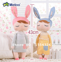43 CM Cute Metoo Angela Dolls Bunny Baby Toy Stuffed Animal Plush Toy For Kids Christmas birthday gift(China)
