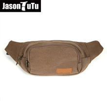High Quality Canvas Waist Packs Belt Bag Portable Ultra-large Capacity Men And Women Waist Bags bolsa FB1169