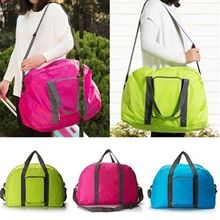 Unisex Durable Foldable Nylon Duffle Bag Travel Luggage Tote Bag Shoulder Bag