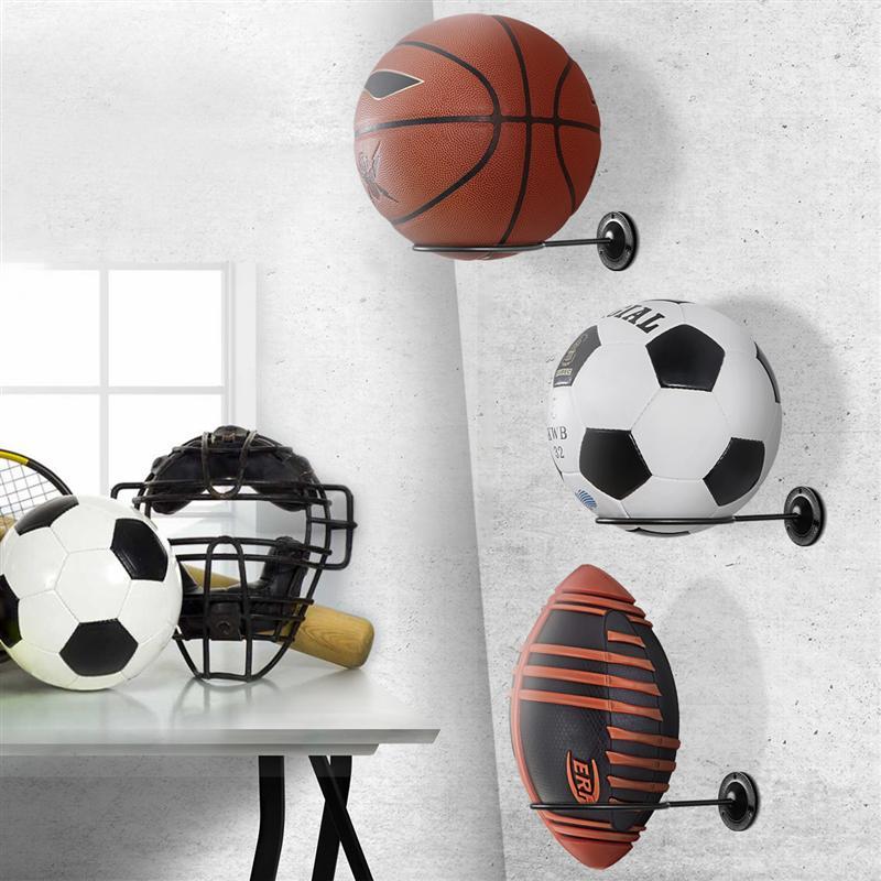 BESPORTBLE 6pcs Wall Mounted Basketball Holder Hoop Metal Shelf Stand Football Baseball Display Holder for Exercise Ball Rack Sports Ball Soccer Volleyball Garage Storage