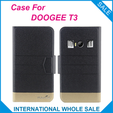 Hot!! 2017 DOOGEE T3 Case New Arrival 5 Colors Factory Direct Flip Leather Exclusive Case For DOOGEE T3 Cover