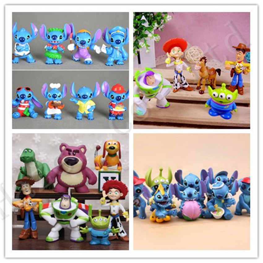 Lilo &amp; Stitch Stitch Toy Story Buzz Lightyear PVC Figure Ornaments Toys<br><br>Aliexpress