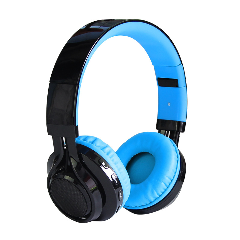 Lenas Folding LED Wireless Bluetooth Headphones Stereo Sound Headsets Earphones Super Bass Earpieces for Mobile Phone Tablets