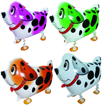 10pcs/Lot, Free Shipping, Dalmatian Pet Walking Animals Balloons  Helium Mylar Balloons, Baby's toy, Party Decoration. Gift.